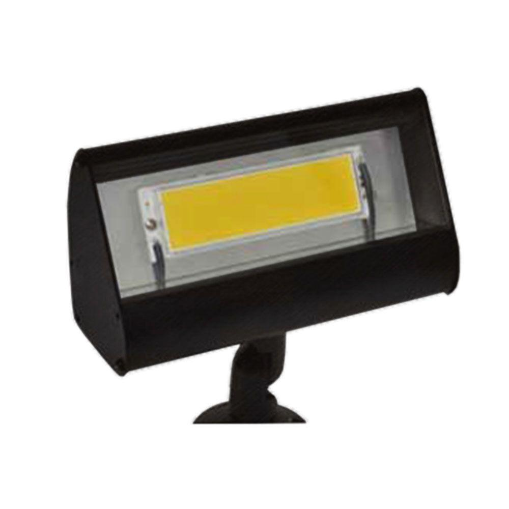 Filament Design Centennial 1-Light Outdoor LED Black Acid Treated Flood Light