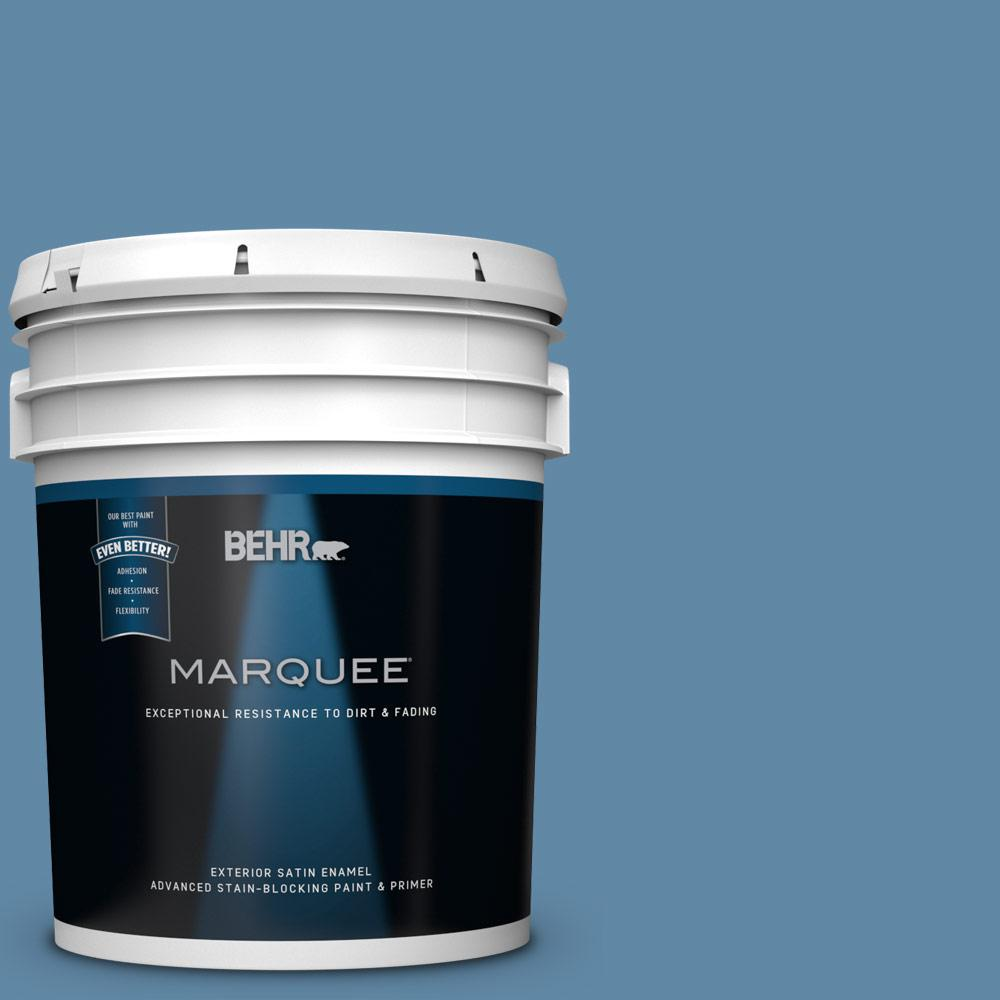 5 gal. #570D-5 Americana Satin Enamel Exterior Paint and Primer in