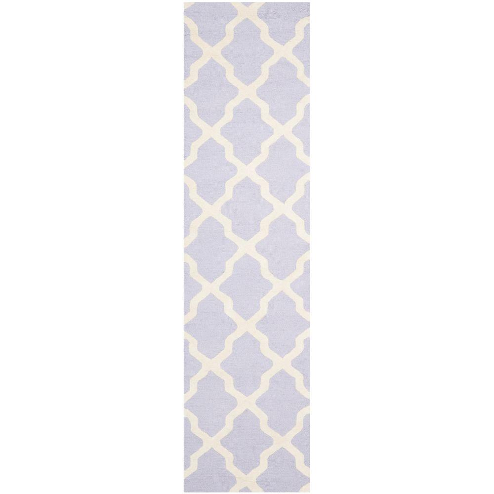 Safavieh Cambridge Lavender/Ivory 2 ft. 6 in. x 10 ft. Runner