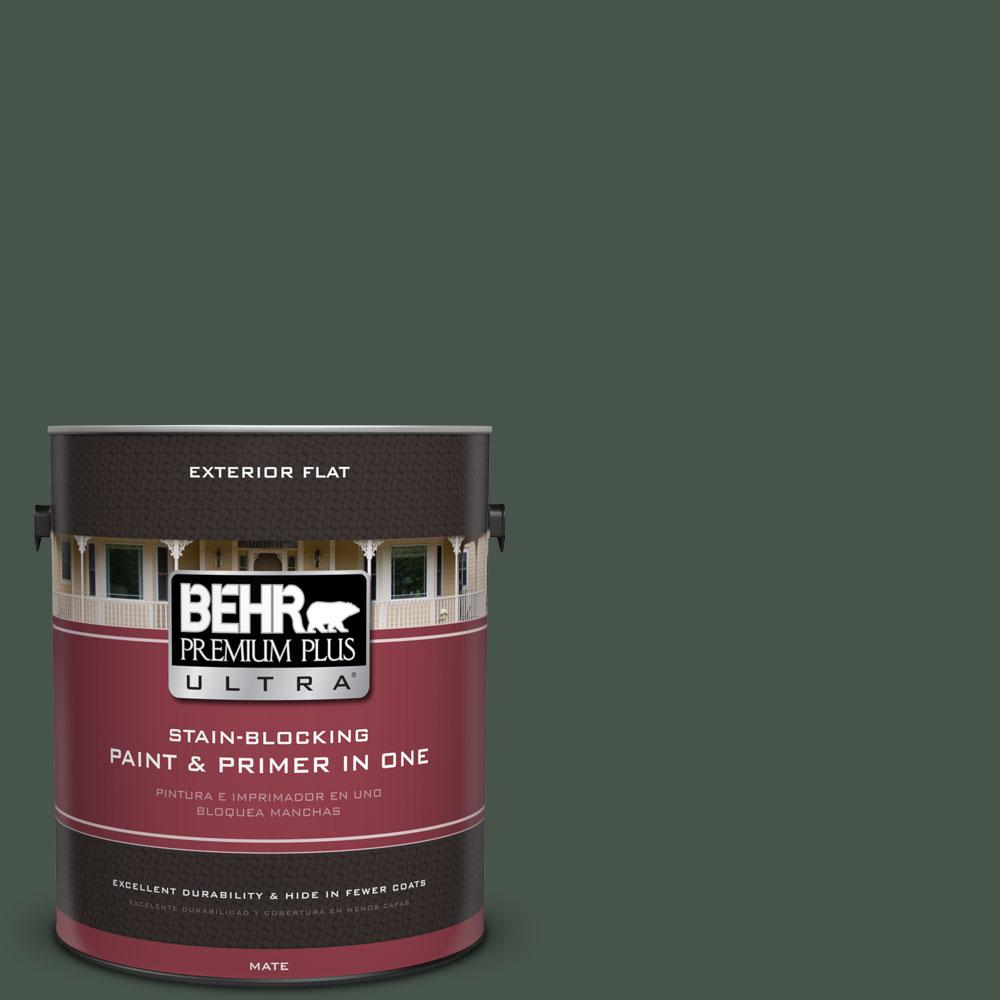 BEHR Premium Plus Ultra 1-gal. #460F-7 Hazel Woods Flat Exterior Paint