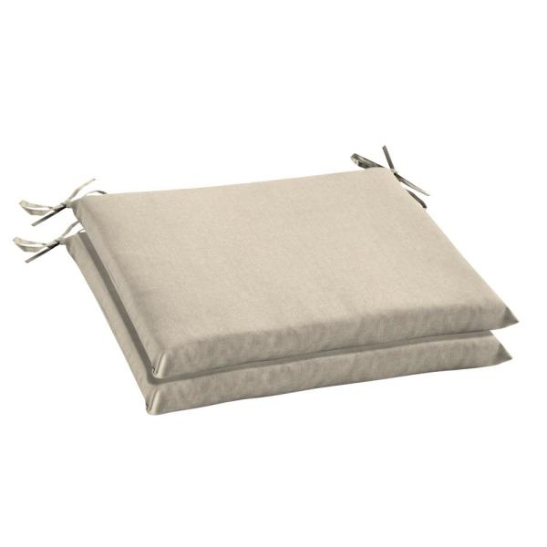Oak Cliff 20 x 18 Sunbrella Canvas Flax Outdoor Chair Cushion (2-Pack)