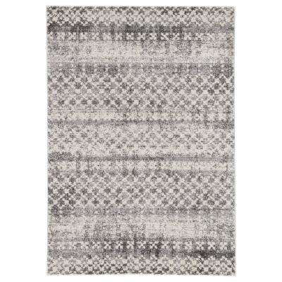 Dalton Gray 8 ft. 10 In. x 12 ft. Trellis Rectangle Rug