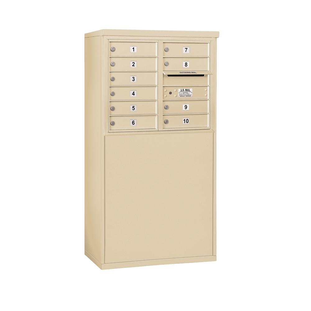 3900 Horizontal Series 10-Compartment Free Standing Mailbox