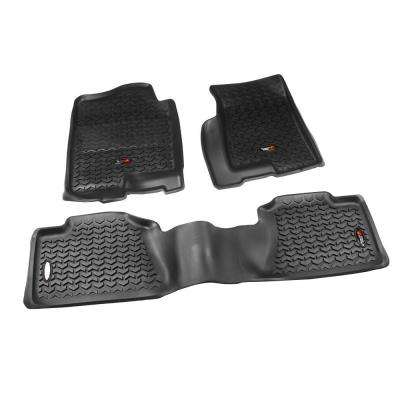 Floor Liner Set 3-Piece Black 1999-2006 GM Full-Size Pickup and SUV