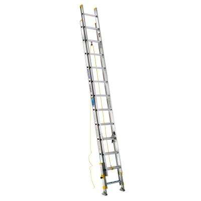 24 ft. Aluminum D-Rung Equalizer Extension Ladder with 250 lb. Load Capacity Type I Duty Rating