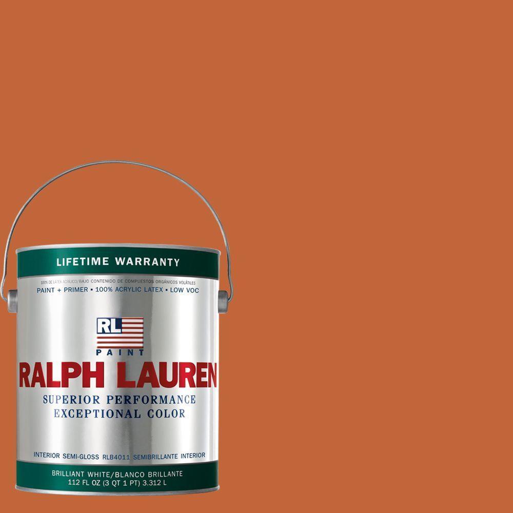 Ralph Lauren 1-gal. Varsity Orange Semi-Gloss Interior Paint