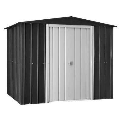Gable 8 ft. x 6 ft. Anthracite Gray Metal Shed
