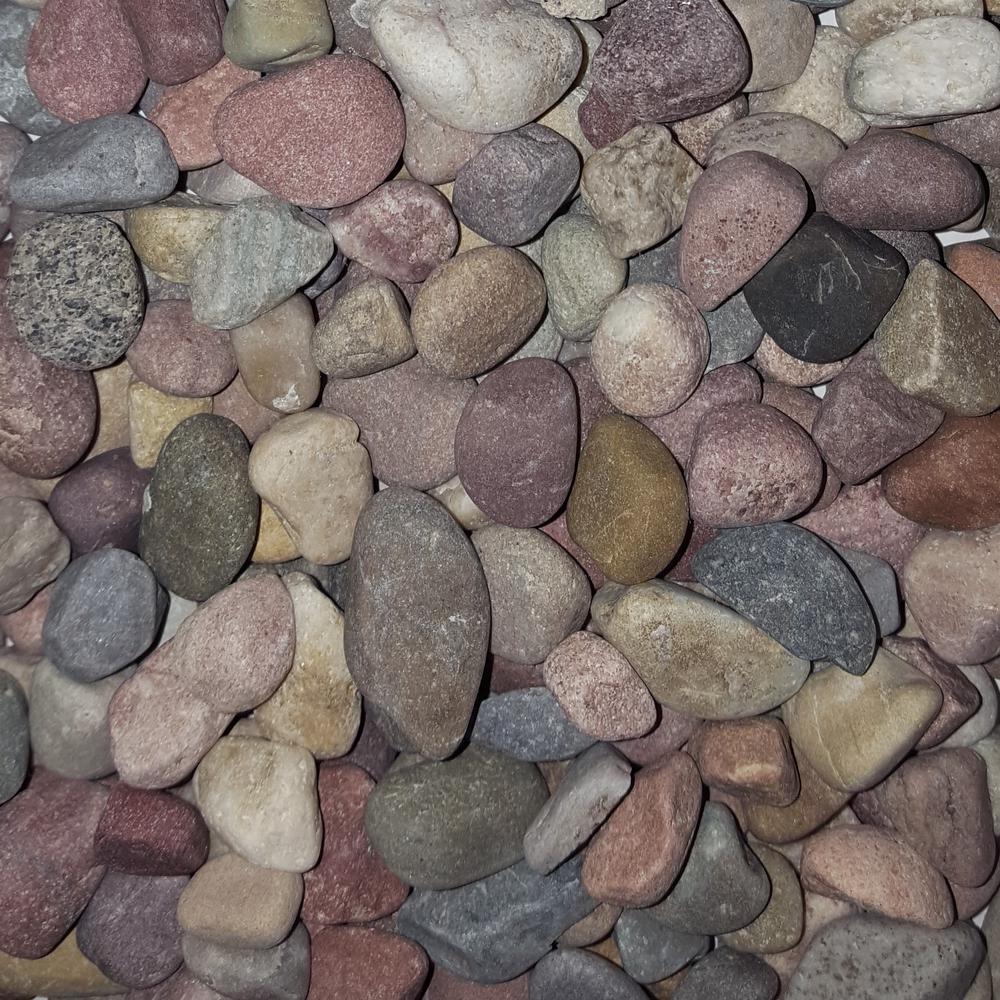 0.50 cu. ft. 40 lb. 1/2 in. Pami Multi- - Pebbles - 3 - Landscape Rocks - Hardscapes - The Home Depot