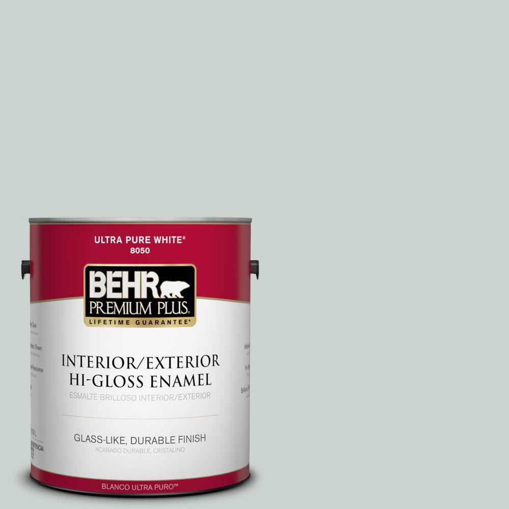 1-gal. #460E-2 Valley Mist Hi-Gloss Enamel Interior/Exterior Paint