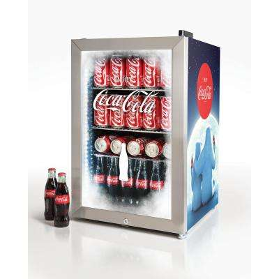 Coca-Cola 2.4 cu. ft. 80-Can Limited Edition Commercial Beverage Cooler, Blue