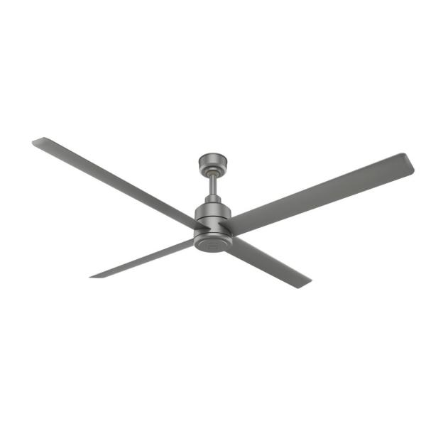 Trak 96 in. Indoor/Outdoor Matte Silver Commercial Ceiling Fan with Wall Control