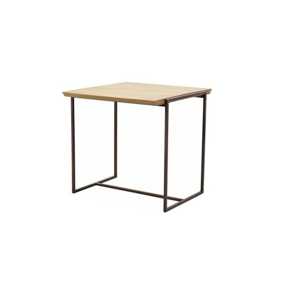 Artefama Furniture Brooklyn Oak And Dark Brown Stool