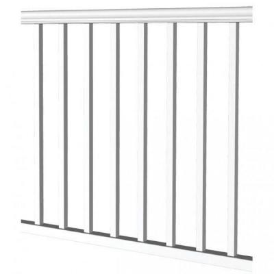 Original Rail 8 ft. x 36 in. White Vinyl Square Baluster Level Rail Kit