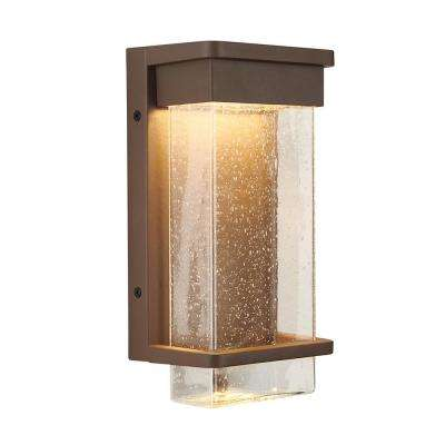 Medium Para Bronze Outdoor Integrated LED Wall Mount Lantern with Bubble Glass
