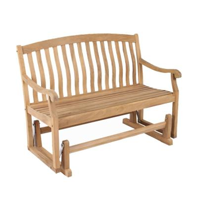 Colton Teak Wood Outdoor Glider Bench