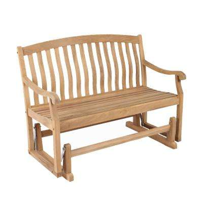 Colton Wood Outdoor Glider Bench