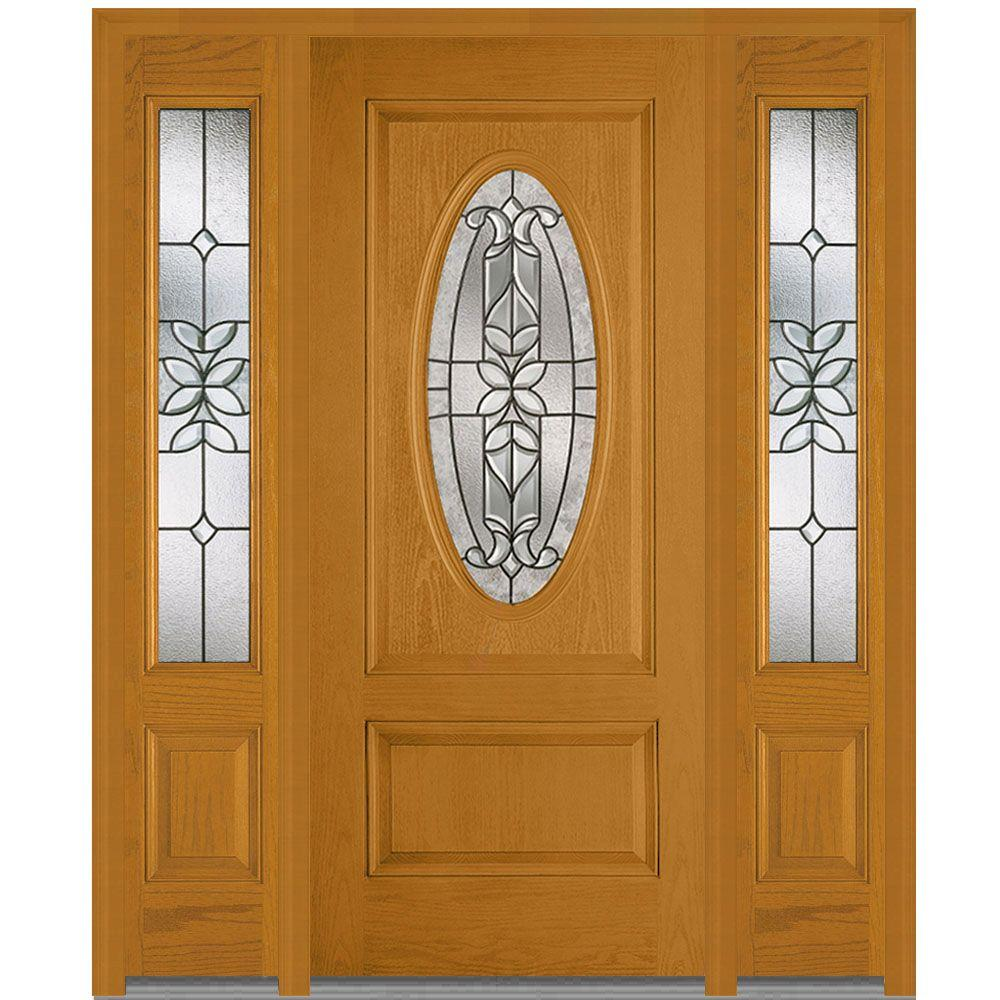 Front doors exterior doors the home depot 645 in x 8175 in cadence decorative glass 34 oval finished rubansaba
