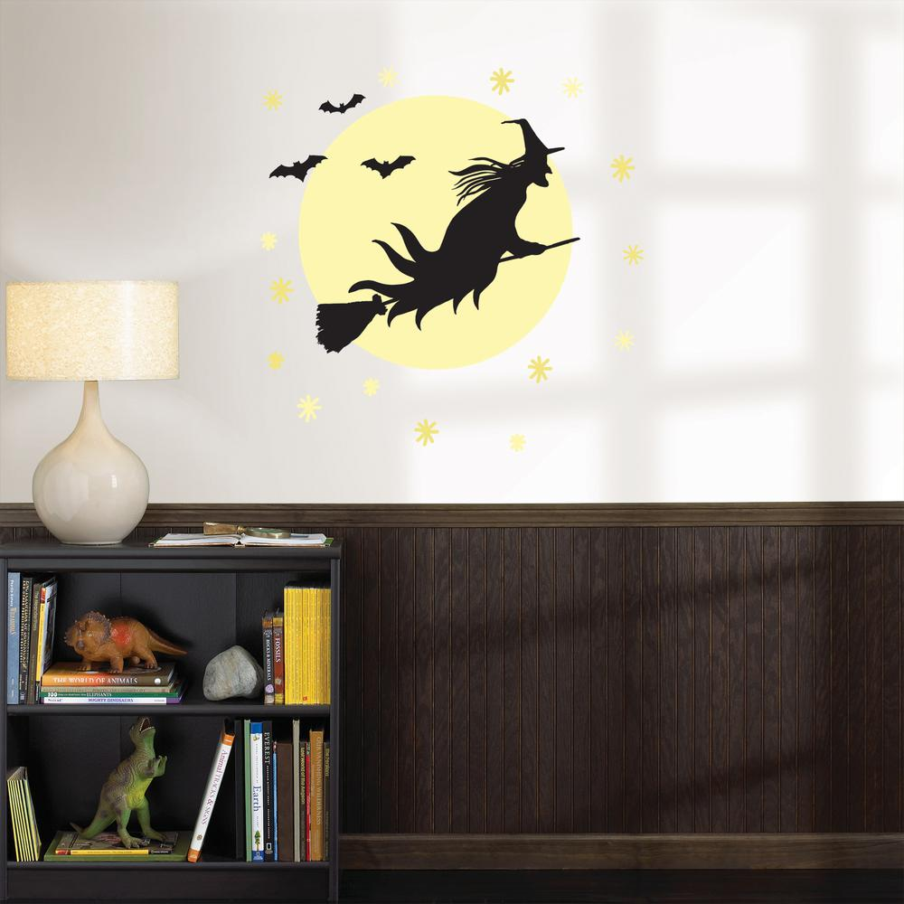 Wallpops 39 in x 34 5 in witch large wall art kit for Home depot halloween decorations 2013