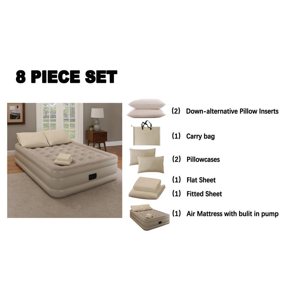 Concierge Collection 8pc Guestroom, Concierge Collection Inflatable Ez Bed Queen