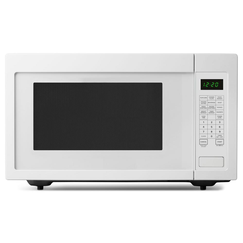Amana 2 Cu Ft Countertop Microwave In White With Add 30 Seconds Option