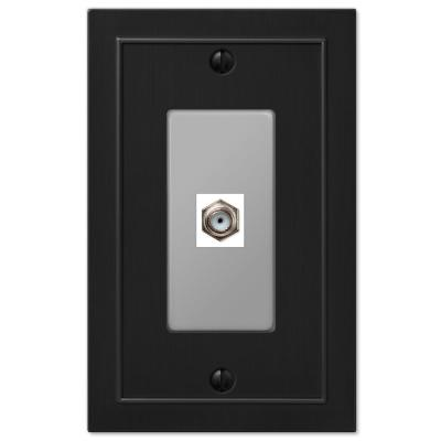Bethany 1 Gang Coax Metal Wall Plate - Black