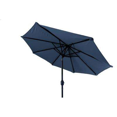 7 ft. Market Tilt Crank Patio Umbrella in Blue