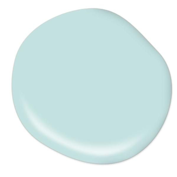 Reviews For Behr Premium Plus 1 Gal T17 04 Peek A Blue Satin Enamel Low Odor Interior Paint And Primer In One 705001 The Home Depot