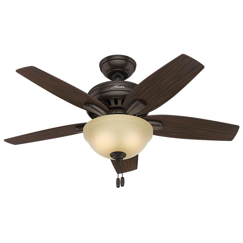 Newsome 42 in. Indoor Premier Bronze Ceiling Fan with Light Kit