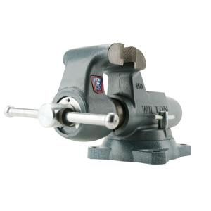 Wilton 600 S 6 inch Machinist Round Channel Vise with Swivel Base, 5.5 inch Throat Depth by Wilton