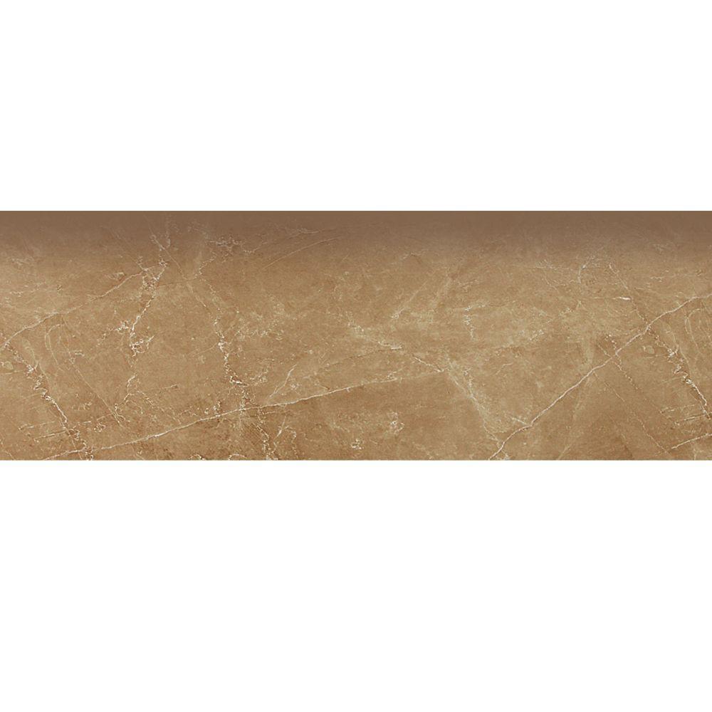 PORCELANOSA Zocalo Marmol Kali 18 in. x 4 in. Tobaco Ceramic Baseboard Wall Trim Tile