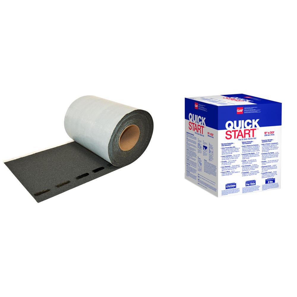 QuickStart 33 lin. ft. Peel and Stick Roofing Starter Shingle Roll