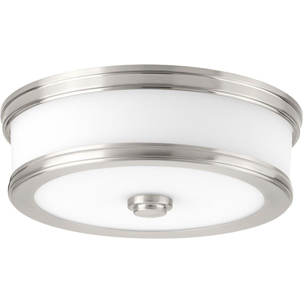 Bezel LED Collection 17-Watt Brushed Nickel Integrated LED Flushmount