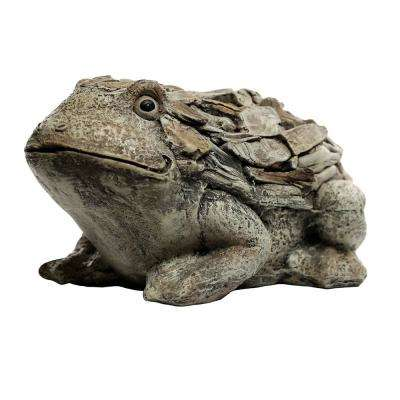 7 in. Tall Frog Stone Garden Statue