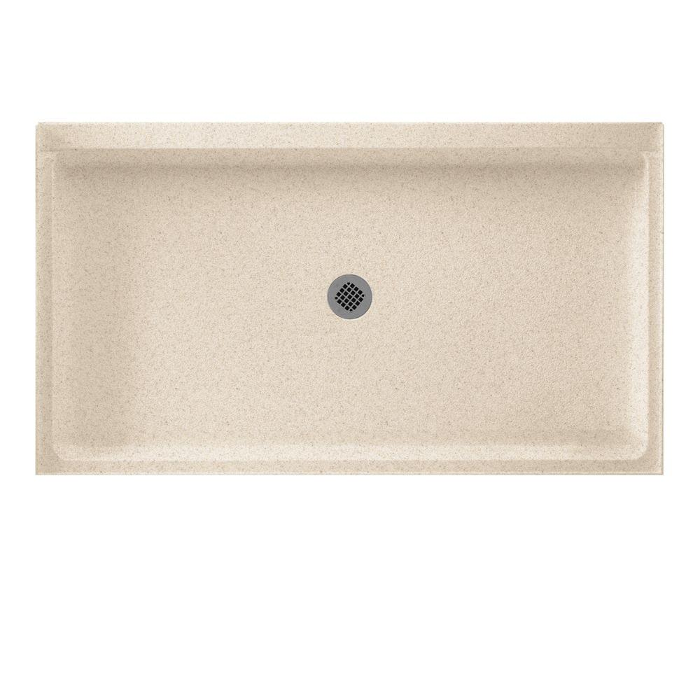 Swan 34 in. x 60 in. Solid Surface Single Threshold Cente...