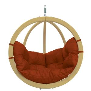 Byer of Maine Globo Chair Single Person Laminated Spruce Patio Swing with Agora... by Byer of Maine
