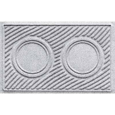 White 18 in. x 28 in. Dog Bowl Wave Pet Mat