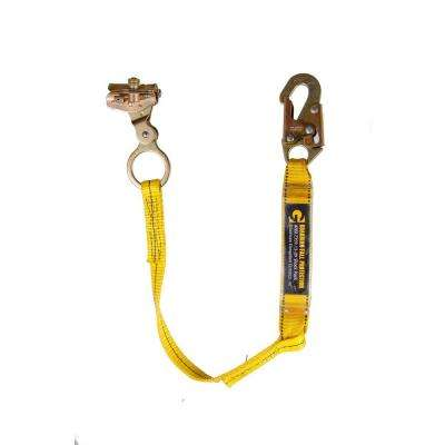 Rope Grab with Attached 3 ft. Shock Absorbing Lanyard