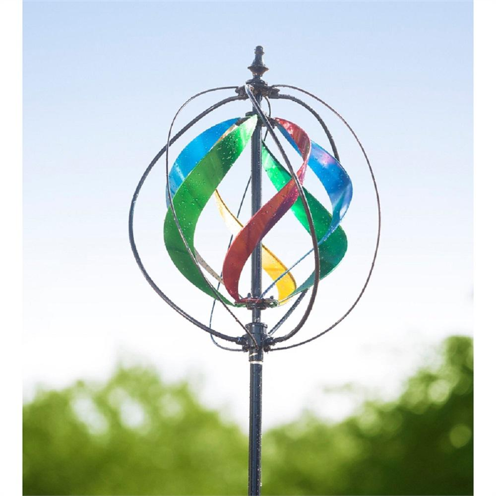 Multi-Colored 89 in. Hydro and Wind Spinner
