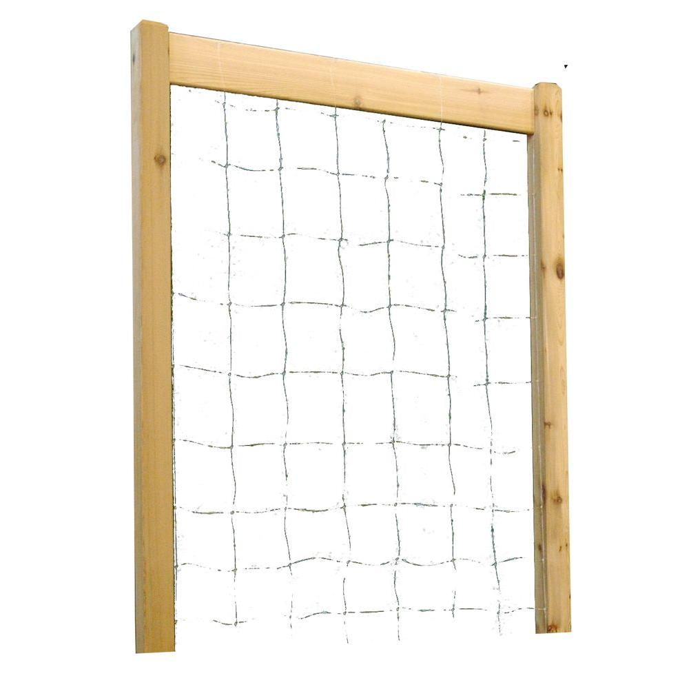 48 in. W x 80 in. H Raised Garden Bed Trellis