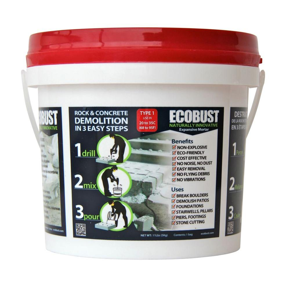 ECOBUST 11 lb. Concrete Cutting and Rock Breaking Non-Combustive Demolition Agent Type 1 (68F - 95F)