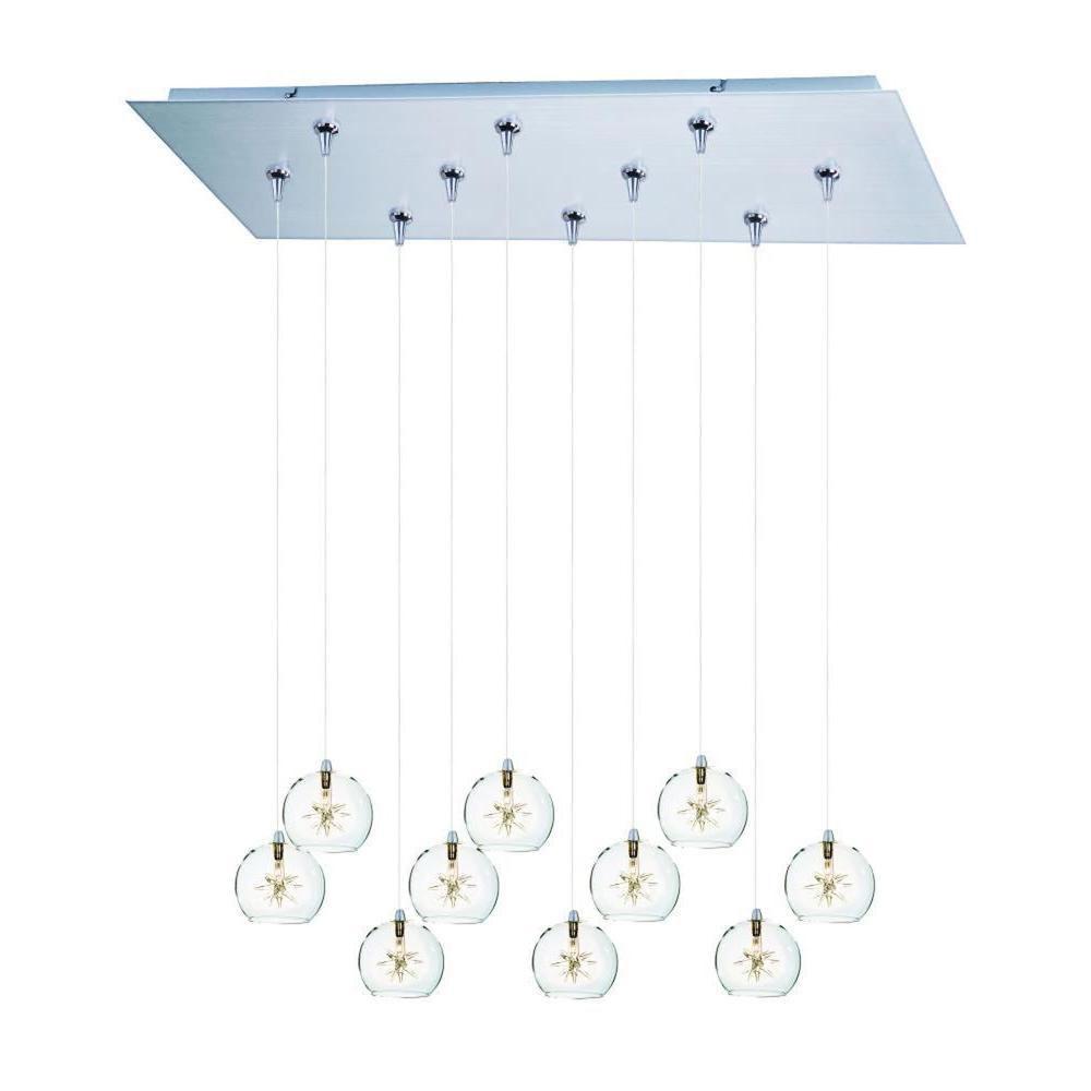 CLI Coit 13-Light Brushed Aluminum Xenon Pendant