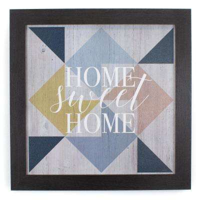 "14 In. W x 14 In. H ""Home Sweet Home"" by KLB Framed Printed Wall ARt"