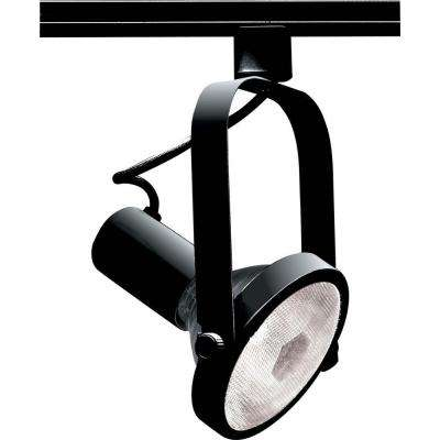 1-Light PAR38 Black Gimbal Ring Track Lighting Head