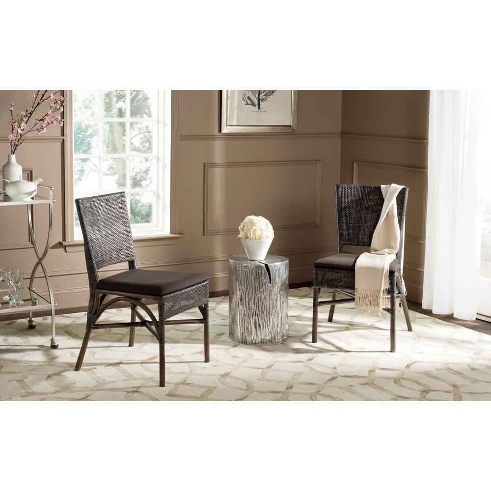 Capri Dark Brown Polyacrylic Side Chair (Set of 2)