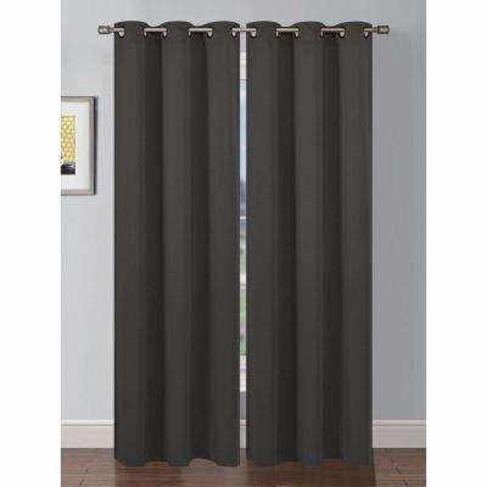 Semi-Opaque Ana Woven Room Darkening Extra Wide Grommet Curtain Panel