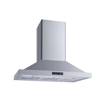 36 in. Convertible Island Mount Range Hood in Stainless Steel with Baffle Filters