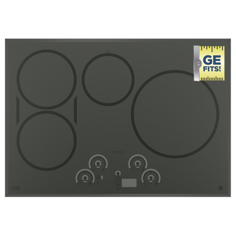 ge 30 in induction cooktop in stainless steel with 4 elements chp9530sjss the home depot. Black Bedroom Furniture Sets. Home Design Ideas