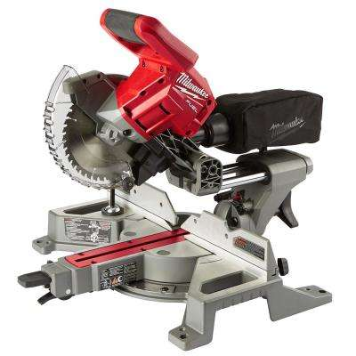M18 18-Volt FUEL Lithium-Ion Cordless Brushless 7-1/4 in. Dual Bevel Sliding Compound Miter Saw (Tool Only)