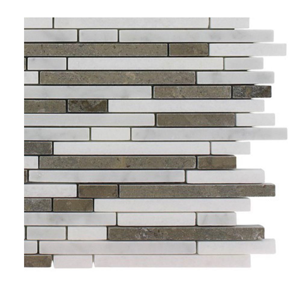 Random Kitchen Tile Patterns: Splashback Tile Windsor 1/4 In. X Random Alaskan Blend Pattern Marble Mosaic Tiles