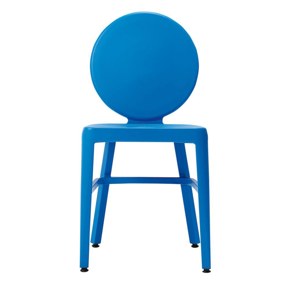 Home Decorators Collection 20 in. W Samantha Blue Side Chair